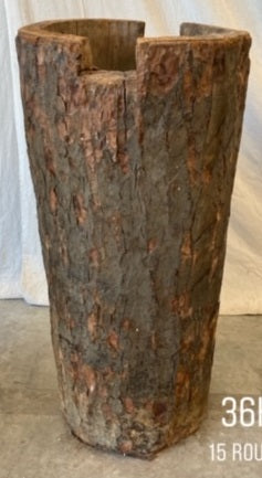 #6418-PUGG - Wabi Sabi Tree Trunk Planter