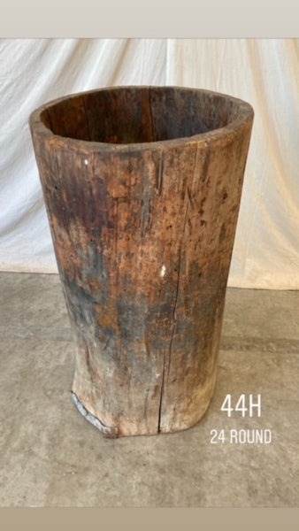 #6416-PUGG - Wabi Sabi Tree Trunk Planter