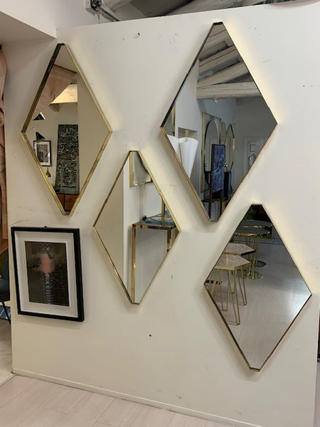 #6157-PGGG - Diamond Shaped Mirrors (Singles or Pairs)