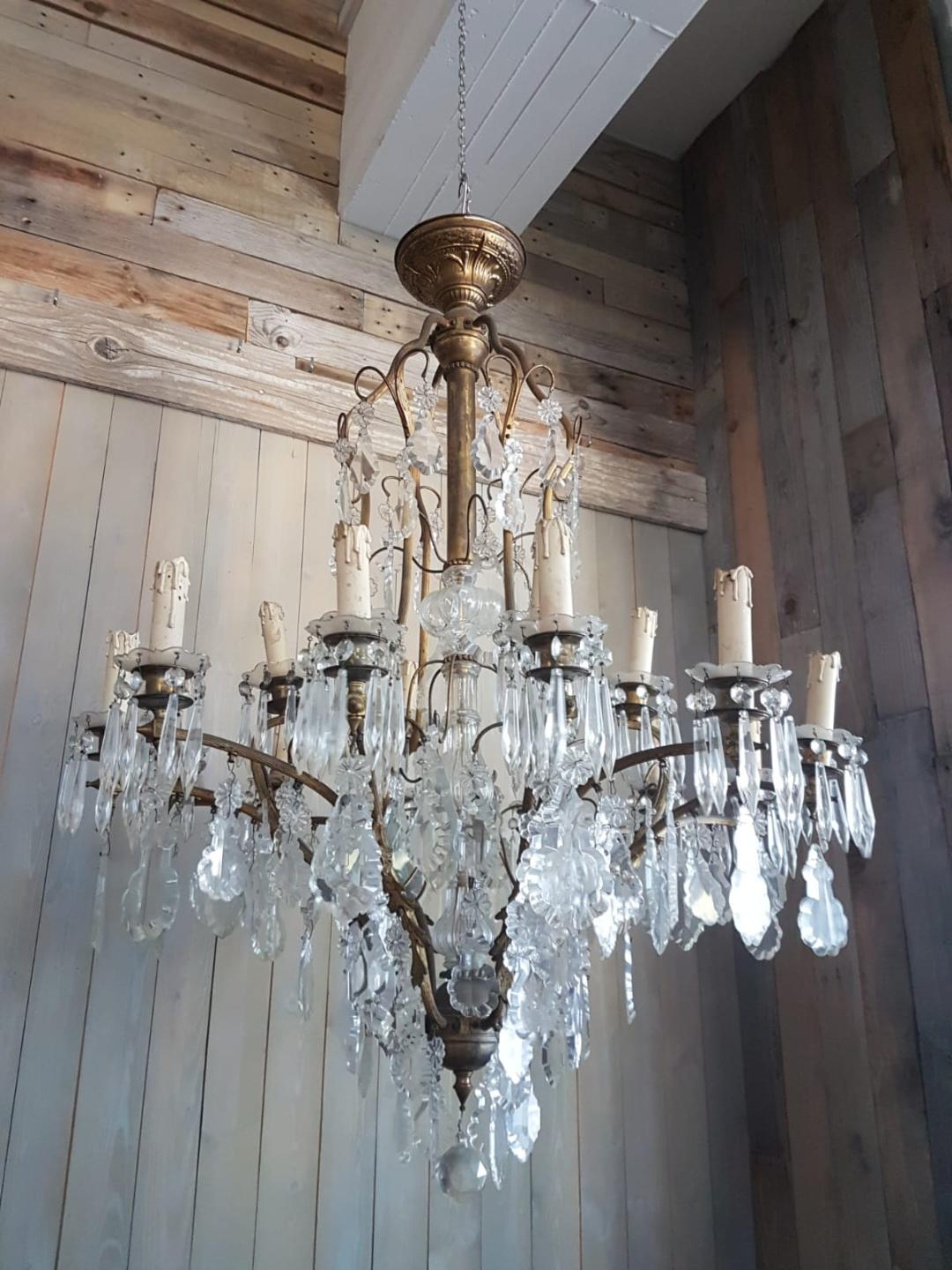 #5573-AGGG - 19th C. Crystal Chandelier From Roman Palace