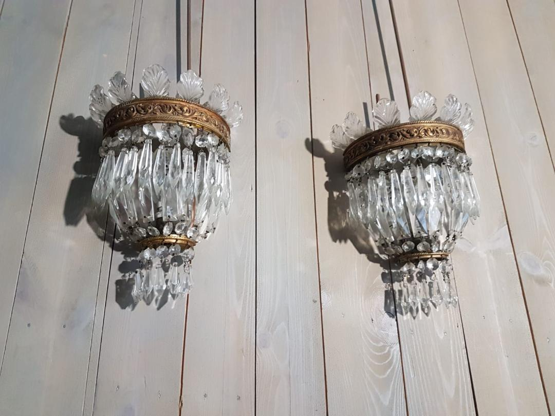 #5951-PGGG - Pair of Sconces