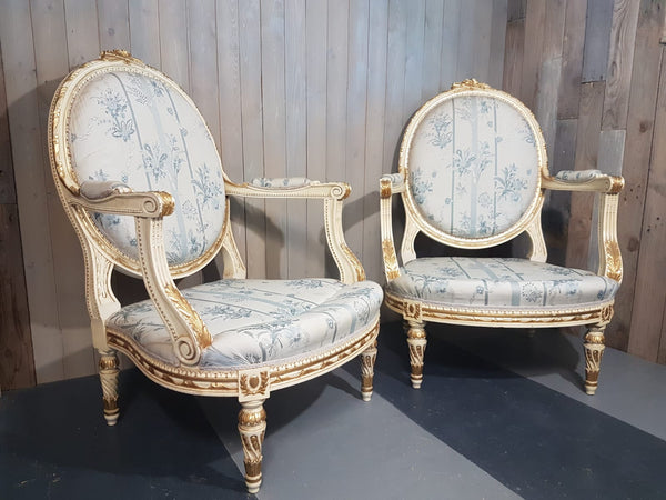 #6225-UCGG - Pair of 20th C. Arm Chairs