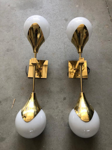 #5151-PSAG - Pair of Murano Sconces