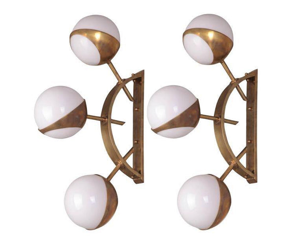 #6387-PNUG - Pair of Murano Sconces