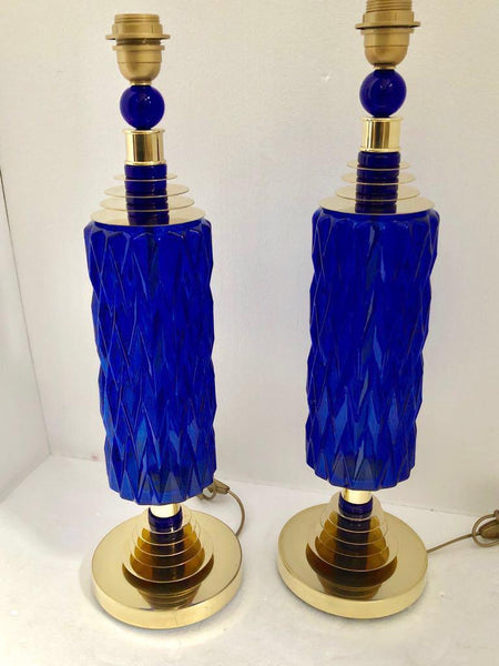 #6463-UCGG - Pair of Murano Lamps
