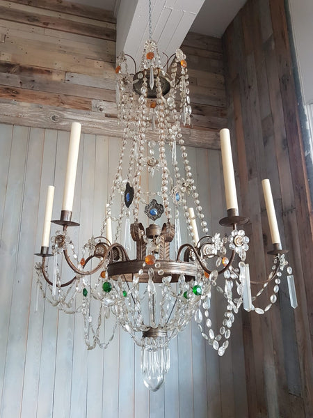 #6680-SUGG - Early 19th C. Crystal Chandelier