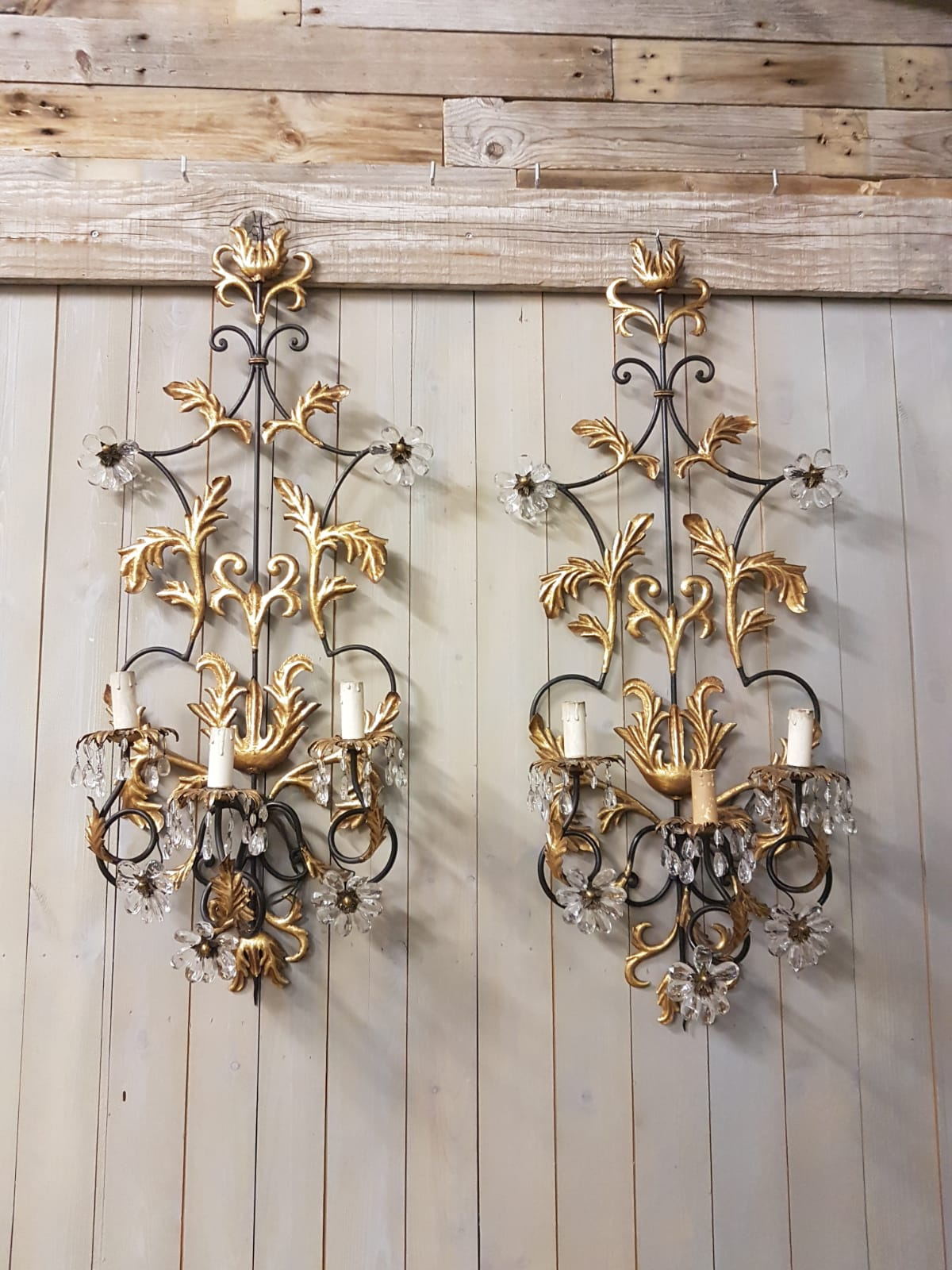 #6760-UCGG - Pair of Iron Sconces
