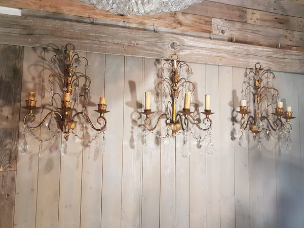 #6956-UGGG - Set of 3 Sconces
