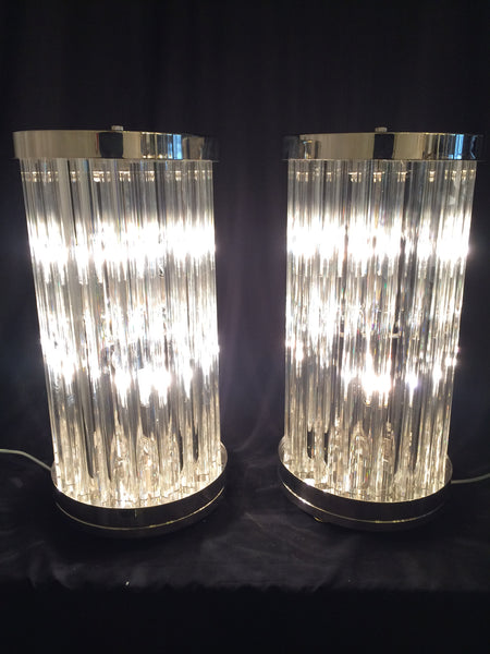 #6092-RCGG - Pair of Murano Lamps