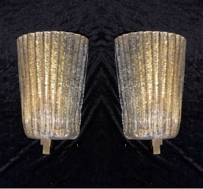 #6070-PAGG - Pair of Murano Sconces