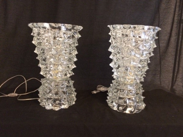 #6088-CCGG - Pair of Murano Lamps