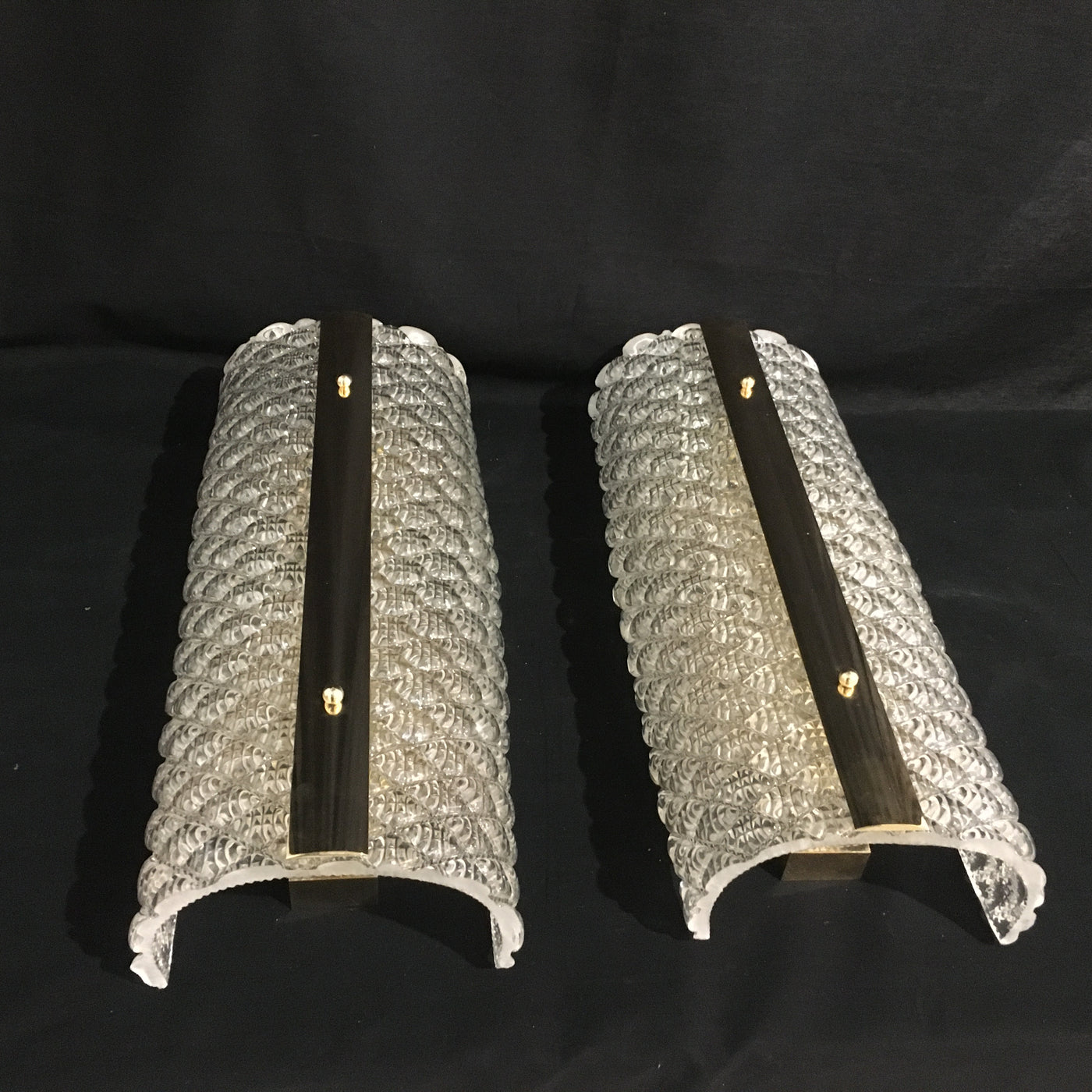 #6072-UGGG - Pair of Murano Sconces