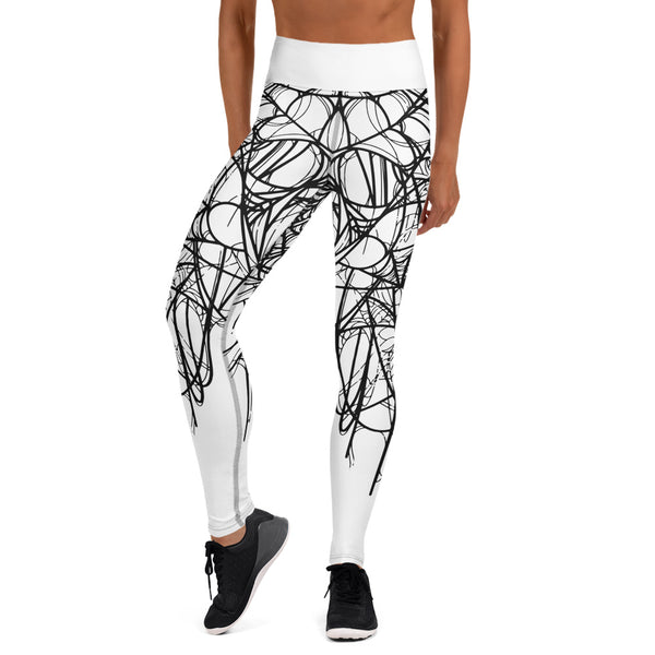 Arachne White Yoga Leggings