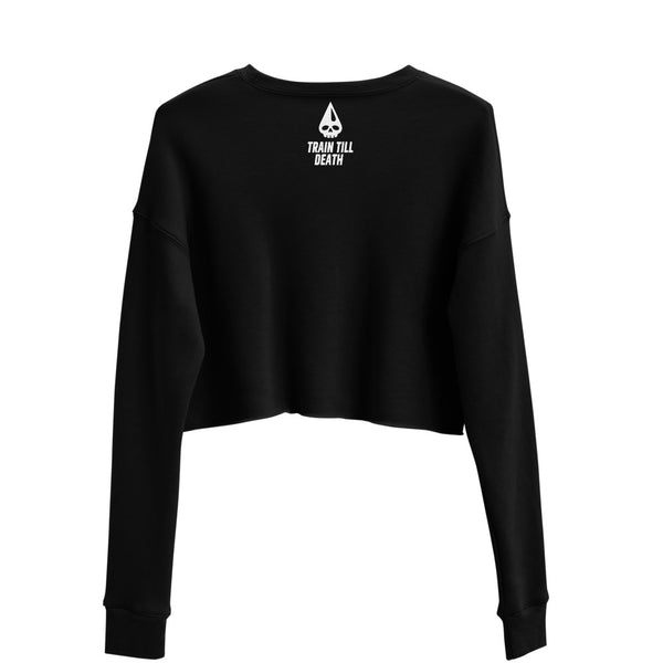 Never Quit Metal Edition Crop Sweatshirt