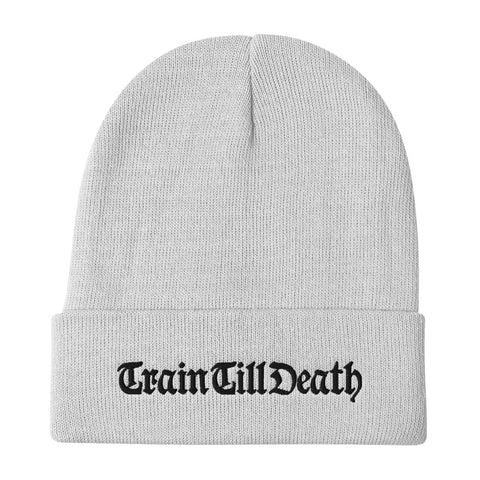 Train Till Death Blackletter Beanie