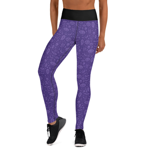 Something Wicked Purple Yoga Leggings