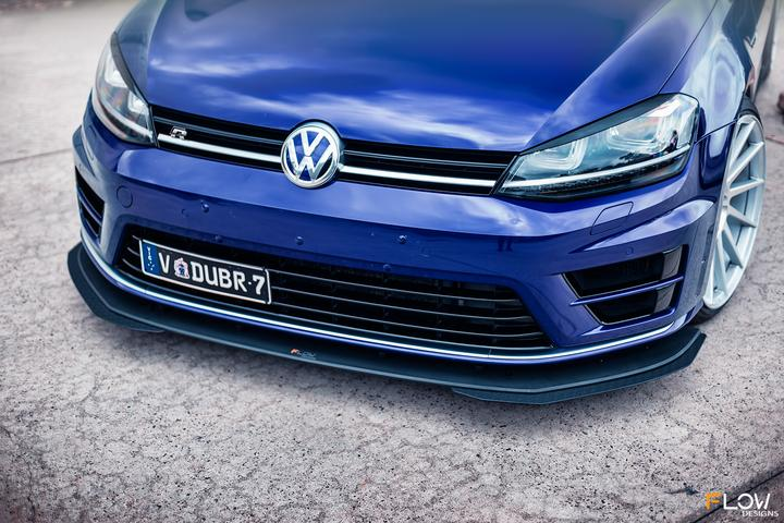 FLOW DESIGNS VW MK7 GOLF R FULL SPLITTER SET - VAG Garage Australia ® - VW/AUDI Aerokits, Aftermarket Parts & Accessories.
