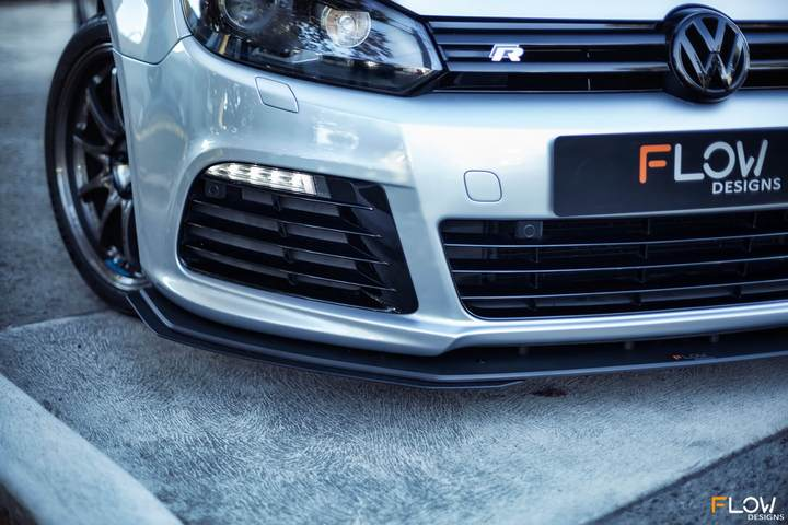 FLOW DESIGNS VW MK6 GOLF R FRONT EXTENSIONS (PAIR) - VAG Garage Australia ® - VW/AUDI Aerokits, Aftermarket Parts & Accessories.