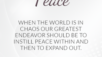 Defining Thoughts - Day Fifteen - Peace