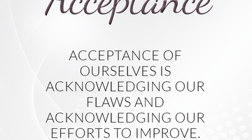 Defining Thoughts - Day Twenty-Nine - Acceptance