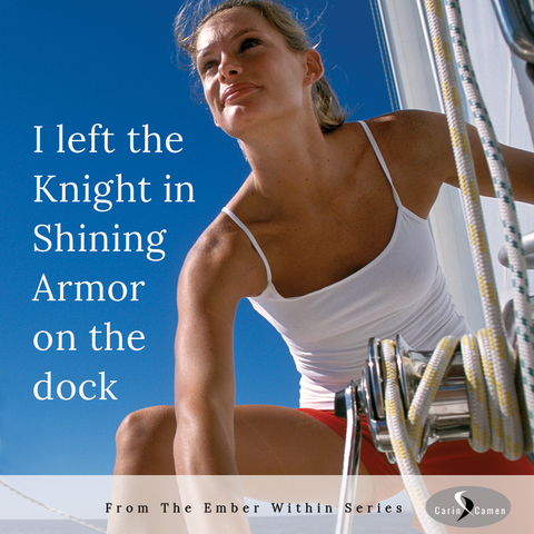 Photo of woman on sailboat hoisting the sails.