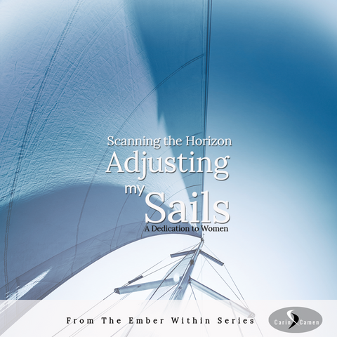 Adjusting my Sails announcement. Photo of sails on a sailboat.