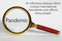 Pandemic-An infectious disease which crosses international boundaries and affects many people.