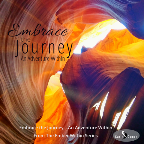 Embrace the Journey announcement. A cave with rainbow colors.