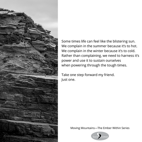 Black and white photo of mountain wall.