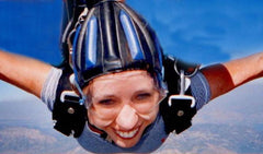 Carin sky diving