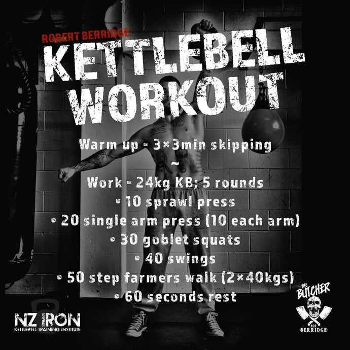 #1 BUTCHER'S KB workout NZ IRON