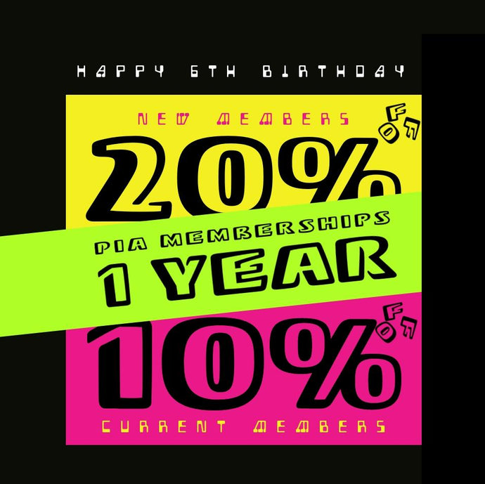 1 Year Membeship 20% / 10% OFF
