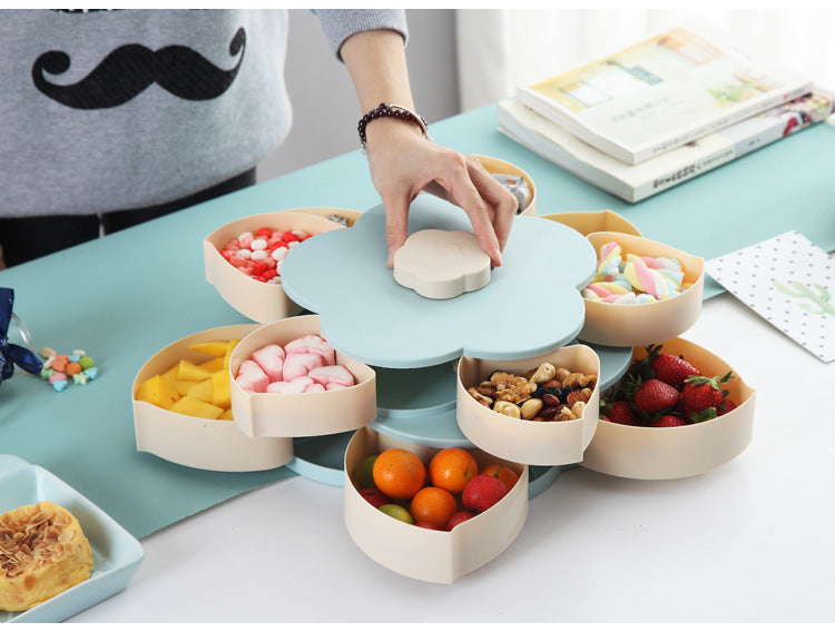 Storage Box Seeds Nuts Candy Dry Fruits Lunch Container for Kids Bloom Snack Box