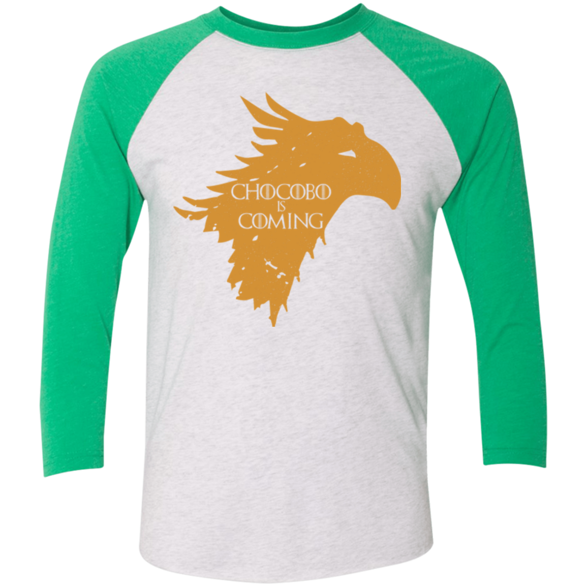 Chocobo is Coming Triblend 3 4 Sleeve