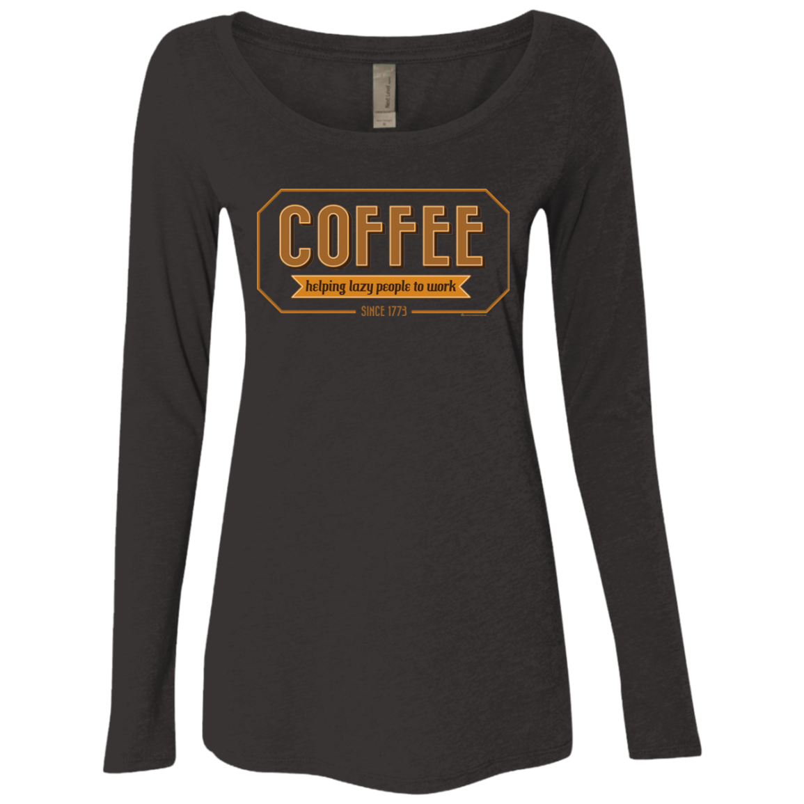 Coffee For Lazy People Women s Triblend Long Sleeve Shirt