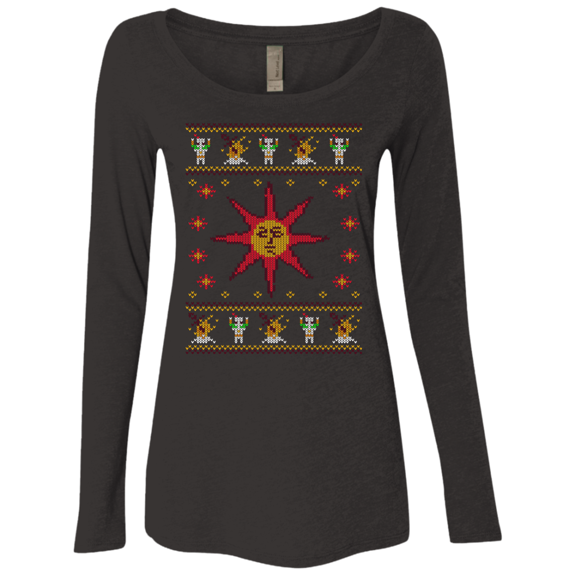 Christmas Sweater Dark Souls Women s Triblend Long Sleeve Shirt