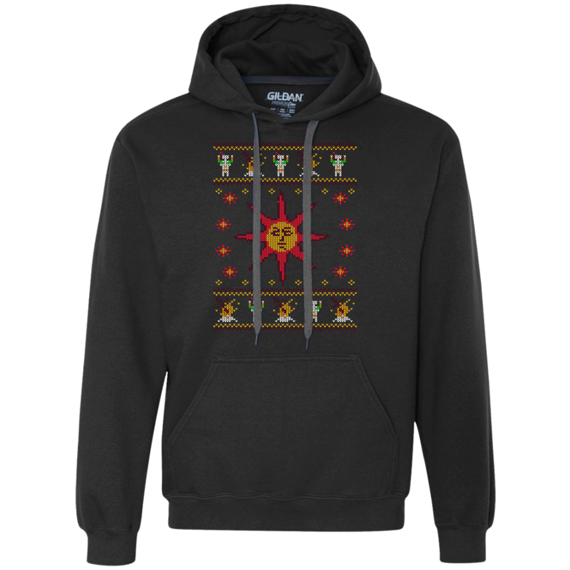 Christmas Sweater Dark Souls Premium Fleece Hoodie
