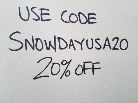 snow day sale 20% off