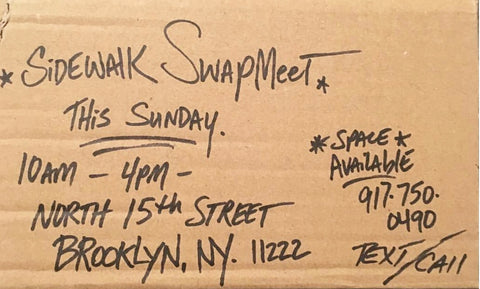 Sidewalk Swap Meet