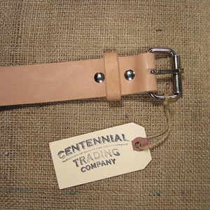 Centennial Trading Leather Belt, Natural