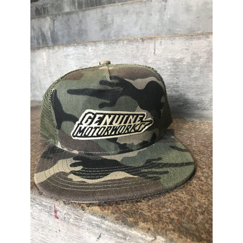 Cream Logo- Camo Trucker Hat