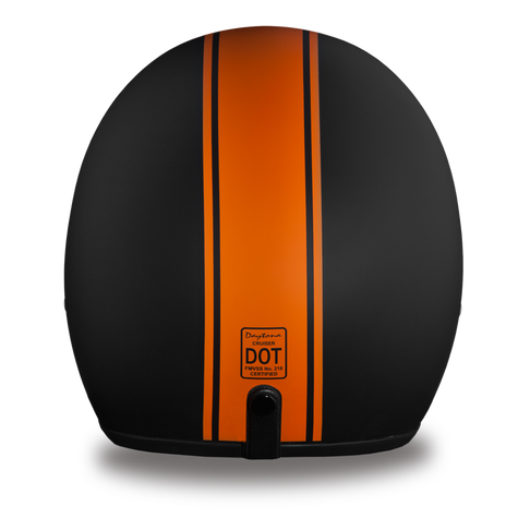 Daytona Cruiser Helmet, Orange Pinstripe