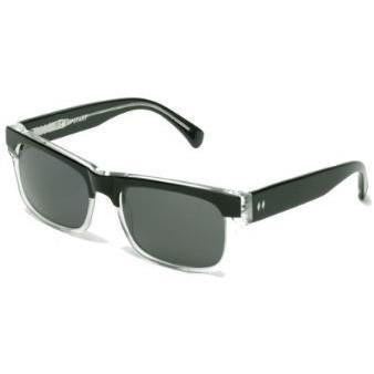 The Upstart Sunglasses in Black & Clear