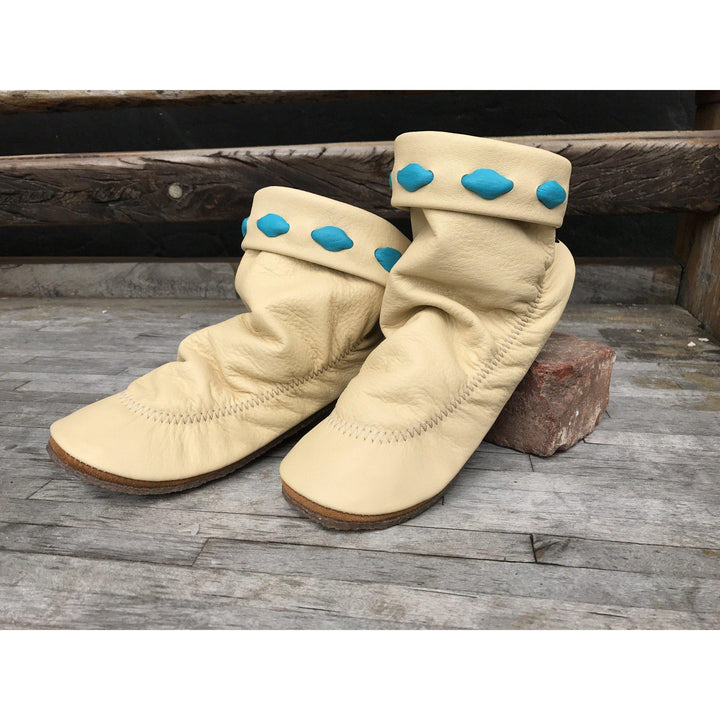 Deerskin Turquoise Accent Teepee Boot