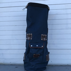 Mad Squirrel Navy/Brown Motorcycle Bag