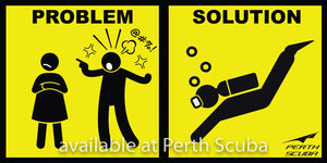 Problem & Solution sticker
