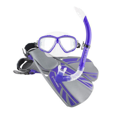 Blade Adult Mask Snorkel Fin Set