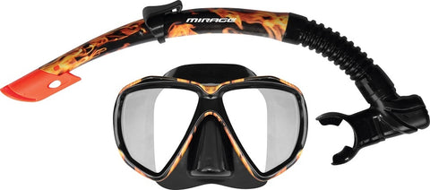 Flame Adult Mask & Snorkel Set