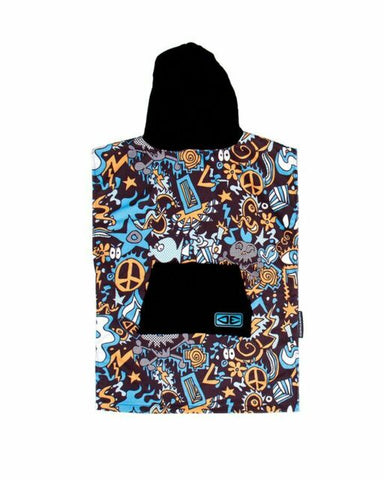 Youth Hippy Skull Hooded Poncho