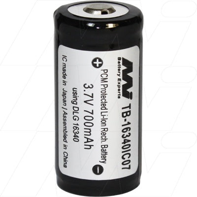16340 Rechargeable Lithium Ion Battery